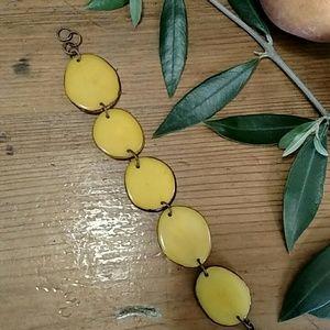 Jewelry - Yellow Banana Nut Boho Trending Bracelet